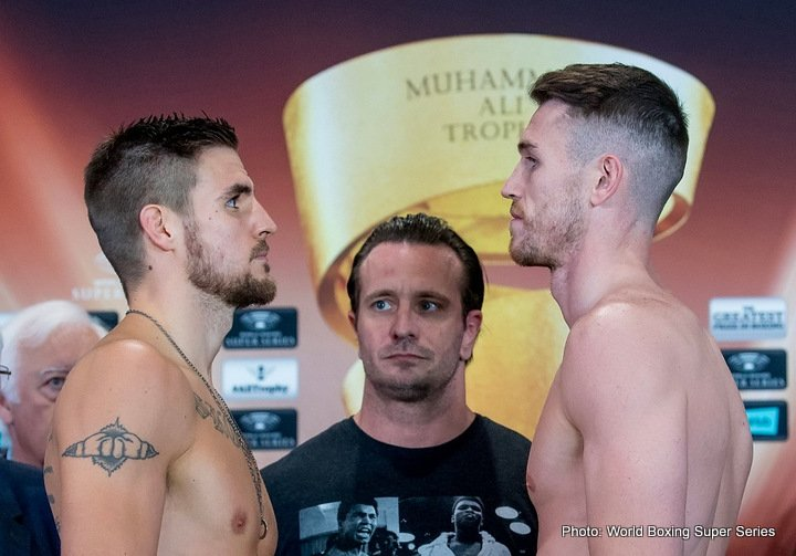 Erik Skoglund - British Callum Smith (76,02 kg) (22-0, 17 KOs) and Swedish Erik Skoglund (76,06 kg) (26-0, 12 KOs) are ready for Saturday's super middleweight premiere of the World Boxing Super Series and the quest for the Ali Trophy at the Echo Arena, Liverpool.