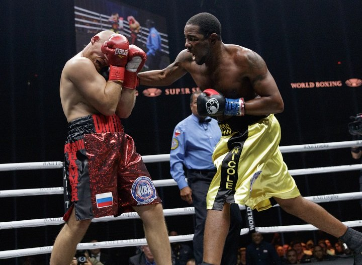 Dmitry Kudryashov, Yuniel Dorticos - WBA cruiserweight champion Yunier Dorticos (22-0) from Cuba fought Russian boxer Dmitry Kudryashov (21-2) in San Antonio, Texas in a quarterfinal of the WBSS tournament with the WBA title on the line. The WBC Silver Title held by the Russian was not at stake.