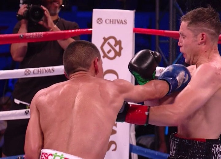 Carlos Cuadras - Former WBA/WBO flyweight champion Juan Francisco Estrada (36-2, 25 KOs) overcame a slow start to come on in the second half of the contest to defeat former WBC super flyweight champion Carlos Cuadras (36-2-1, 27 KOs) by a 12 round unanimous decision at the StubHub Center in Carson, California.