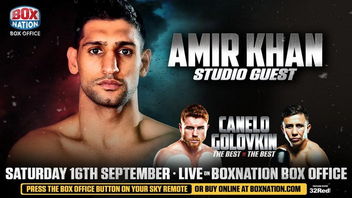 """Gennady Golovkin, Saul """"Canelo"""" Alvarez - Boxing ace Amir Khan will be a BoxNation studio guest for the epic encounter between middleweight kingpins Canelo Alvarez and Gennady Golovkin."""