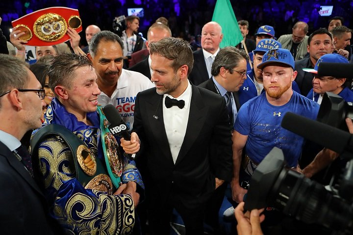 """Gennady Golovkin, Saul """"Canelo"""" Alvarez - As fight fans know, it took quite a stretch of time, and much negotiating, before Gennady Golovkin and Canelo Alvarez finally met in their big fight – and most people will tell you it was Canelo, or more accurately Golden Boy, who was to blame for the fight taking so long to get signed, sealed and delivered."""