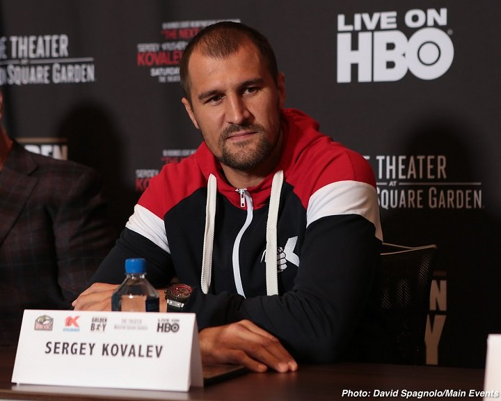 Sergey Kovalev Vyacheslav Shabranskyy Boxing News
