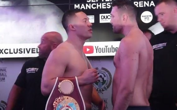 Hughie Fury, Joseph Parker - The eight principal fighters for tomorrow night's Parker vs. Fury Pay-Per-View card all made weight at today'(see below). Tensions erupt when Fury pushed Parker during the traditional face-off and members of both teams went at it before security broke up the altercation.