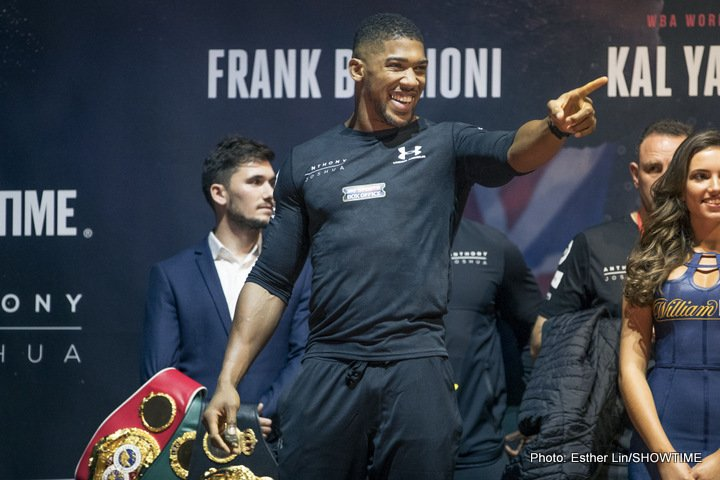 Anthony Joshua Carlos Takam Boxing News British Boxing