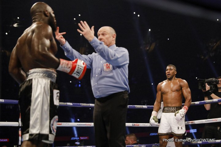 Anthony Joshua is the A-side in Wilder fight says Mayweather
