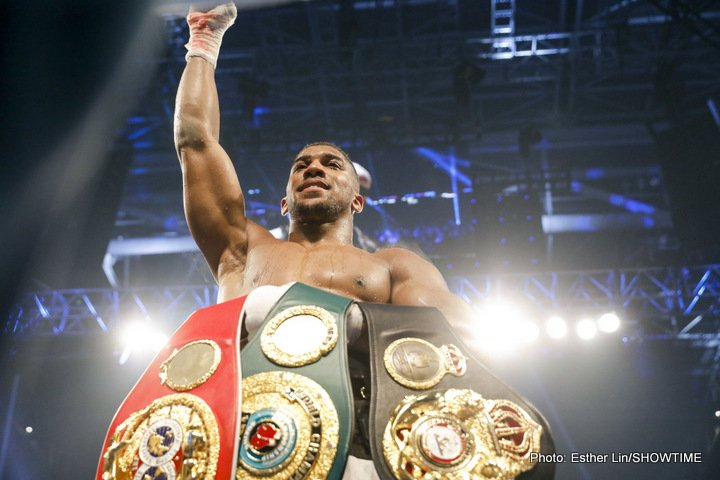 "Anthony Joshua, Deontay Wilder, Eddie Hearn - Promoter Eddie Hearn is pushing to have heavyweight champions Anthony Joshua and Deontay ""Bronze Bomber"" Wilder fight on the same card in March or April before matching them up against each other in the summer."