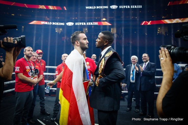 Yuniel Dorticos - The Ali Trophy semi-final bout in the cruiserweight edition of the World Boxing Super Series between IBF World Champion Murat Gassiev (25-0, 18 KOs) and WBA World Champion Yunier Dorticos (22-0, 21 KOs) takes place at the Bolshoy Ice Dome in Sochi, Russia on February 3, 2018.