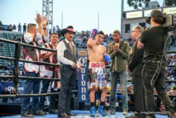 Abner Mares, Andres Gutierrez, Chris Avalos, Leo Santa Cruz - Featherweight world champions Leo Santa Cruz and Abner Mares were both victorious in their Premier Boxing Champions on FOX and FOX Deportes fights Saturday night from StubHub Center in Carson, Calif. and officially set up a world championship rematch between the two popular southern California champions in early 2018.