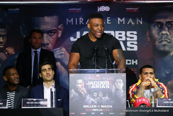 Mariusz Wach - EDDIE HEARN:  This big fight on November 11 is very important in the heavyweight division.  Jarrell Miller is making big waves is the US right now and of course in the world rankings and Mariusz who has been, for a long time, they come together and they meet in a pivotal clash on November 11.  Both guys are looking for a chance at the world title.  While this is not an official eliminator for the world title, one thing is for sure, the winner, I believe, will fight for a world title and the loser will not.  This is a huge for both of their careers and is part of a huge show with Danny Jacobs headlining against Luis Arias in a great fight and Cletus Seldin against Roberto Ortiz.