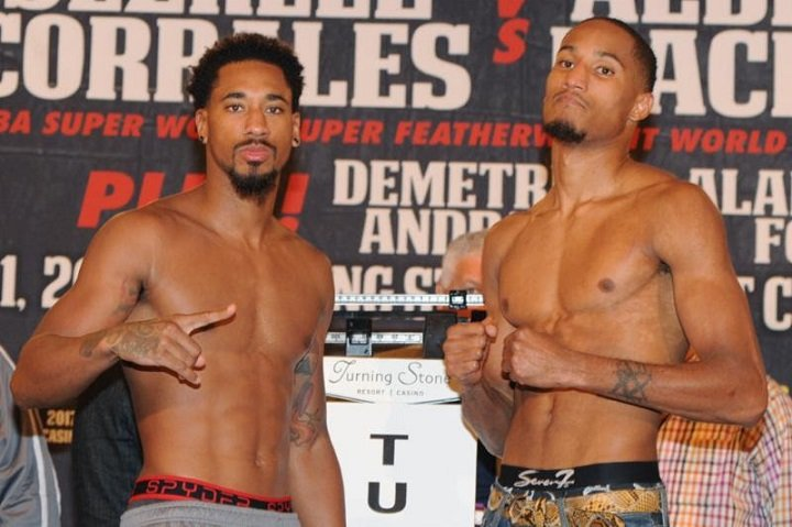 Andrade vs. Fox weigh-in results