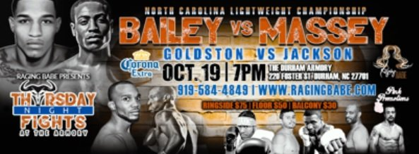 - The perception of North Carolina boxing is downright awful if not embarrassing.  Mention the words North Carolina boxing to anyone outside of the tar heel state, and the negative responses vary between padded records, easy wins, a joke, uncommitted, and trash.  Well, the wind of change is blowing, and Thursday Night Fights presented by Raging Babe represents a positive shift in the North Carolina Boxing culture.