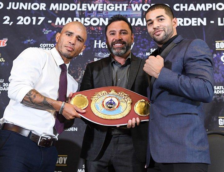 Miguel Cotto Oscar De La Hoya Sadam Ali Boxing News
