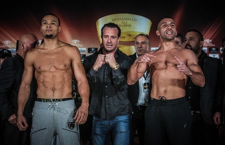Avni Yildirim - Chris Eubank Jr. (75,8 kg) (25-1, 19 KOs) and Avni Yildirim (76,2 kg) (16-0, 10 KO) made weight ahead of Saturday's Ali Trophy quarter-final at the Hanns-Martin-Schleyer-Halle in Stuttgart.
