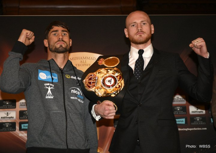Jamie Cox - WBA Super World Super Middleweight champion George Groves (26-3, 19 KOs) and Jamie Cox (24-0,13 KOs) went head-to-head at the last pre fight press conference before their Ali Trophy quarter-final on Saturday at The SSE Arena Wembley in London.