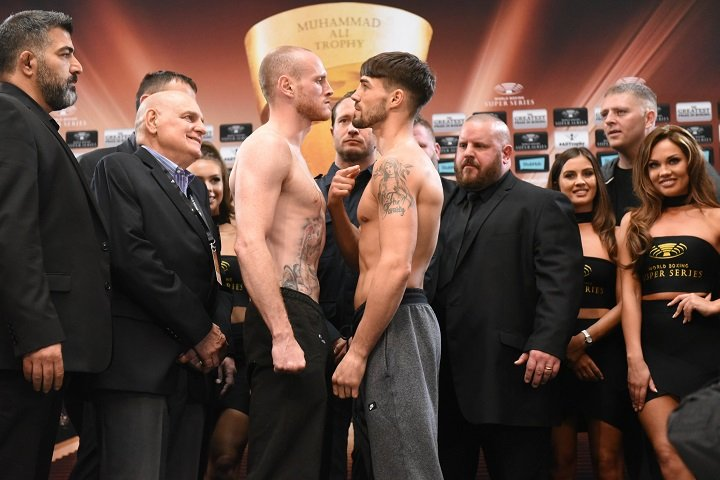 Jamie Cox - WBA Super World Super Middleweight champion George Groves (75,8 kg) (26-3, 19 KOs) and Jamie Cox (76,1 kg) (24-0,13 KOs) are ready for Saturday's Ali Trophy quarter-final clash at The SSE Arena, Wembley in London. (Photo credit: World Boxing Super Series)