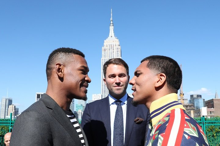 Luis Arias - Earlier this week in Manhattan, Matchroom Boxing officially announced their U.S. debut with Daniel Jacobs facing off against Luis Arias in a 12-round middleweight bout and Jarrell Miller taking on Mariusz Wach in a 12-round heavyweight tilt. The event will take place Saturday, November 11 at NYCB LIVE, home of the Nassau Veterans Memorial Coliseum in Uniondale, New York and will be televised live on HBO World Championship Boxing beginning at 10:00 p.m. ET/PT in the US and on Sky Sports in the UK.