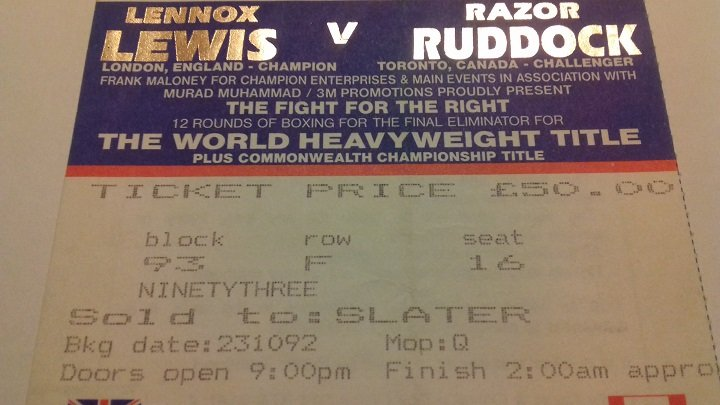 25 years ago today this Halloween: Lennox Lewis ices Razor Ruddock in terrifying performance