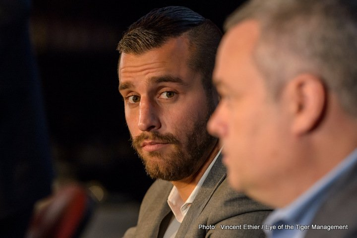 David Lemieux - Oscar De La Hoya is predicting that former IBF middleweight champion David Lemieux will come out quickly on December 16 and look to steamroll WBO middleweight champion Billy Joe Saunders in their fight.