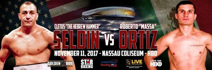 """Cletus """"The Hebrew Hammer"""" Seldin - Fists will fly on November 11 when super lightweight knockout artists Cletus """"The Hebrew Hammer"""" Seldin (20-0, 16 KOs) and Roberto """"Massa"""" Ortiz (35-1-2, 26 KOs) square off in a 10-round bout from Long Island's NYCB LIVE, home of the Nassau Veterans Memorial Coliseum televised live on HBO World Championship Boxing beginning at 10:00 p.m. ET/PT."""