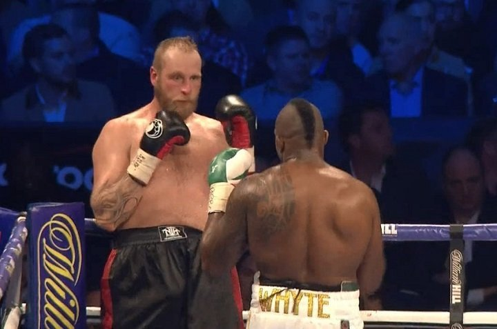 """Deontay Wilder - Though he failed to make an explosive statement in his winning fight with a reluctant Robert Helenius last night, Dillian Whyte is """"in a great position"""" according to his promoter Eddie Hearn. Whyte, troubled by Helenius in the second-round when his legs appeared wobbly, swung and missed frequently during the largely dull 12 rounds, winning via lopsided but unimpressive unanimous decision."""