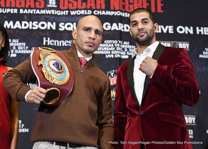 "Sadam Ali - Four division world champion Miguel Cotto (41-5, 33 KOs) and current WBA International Welterweight Champion Sadam ""World Kid"" Ali (25-1, 14 KOs) today hosted the final press conference for their WBO World Junior Middleweight Championship fight, which takes place Saturday, Dec. 2 at the World's Most Famous Arena, Madison Square Garden, and will be televised live on HBO World Championship Boxing beginning at 10:00 p.m. ET/PT."