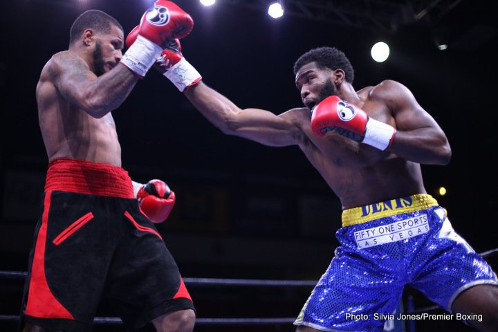 "Anthony Dirrell, Denis Douglin - Former world champion Anthony Dirrell (31-1-1, 24 KOs) had a successful return to the ring in his hometown as he won a technical decision over Denis Douglin (19-6, 12 KOs) in the main event of a special Friday night edition of Premier Boxing Champions TOE-TO-TOE TUESDAYS on FS1 and BOXEO DE CAMPEONES on FOX Deportes from Dort Federal Credit Union Center in Flint, Michigan. ""I wanted to pressure him and test myself,"" said Dirrell. ""He was wearing down and then the head butt came. I told the doctor that my vision was blurry and he decided not to let me continue."""