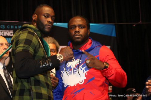 Bermane Stiverne, Deontay Wilder - WBC Heavyweight World Champion Deontay Wilder and former world champion Bermane Stiverne went face-to-face and exchanged words onstage Thursday at the final press conference before they battle in the SHOWTIME CHAMPIONSHIP BOXING main event this Saturday, November 4 from Barclays Center, the home of BROOKLYN BOXING™.