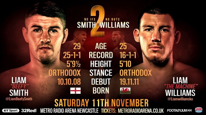 Liam Smith, Liam Williams - Clydach Vale clouter Liam Williams insists bitter rival Liam Smith is suffering from delusion as they embark on their spicy looking 'No Ifs, No Buts' rematch at Newcastle's Metro Arena on Saturday week, broadcast live on BT Sport and BoxNation.