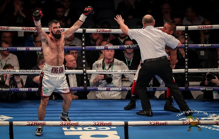 Jono Carroll - Jono Carroll has claimed the vacant IBF inter-continental super-featherweight title with a third-round stoppage win over Humberto de Santiago at Belfast's SSE Odyssey Arena.