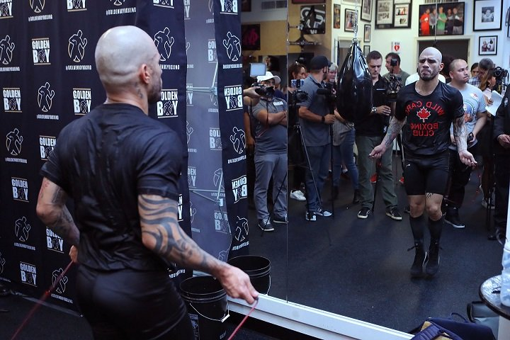 "Sadam ""World Kid"" Ali - Four-division world champion Miguel Cotto (41-5, 33 KOs) hosted a media workout today at the Wild Card Boxing Club in Los Angeles ahead of the final fight of the future Hall of Famer's career, which will be against Sadam ""World Kid"" Ali (25-1, 14 KOs) for Cotto's WBO World Junior Middleweight Championship. The action will take place at the World's Most Famous Arena, Madison Square Garden, and will be televised live on HBO World Championship Boxing beginning at 10:00 p.m. ET/PT."