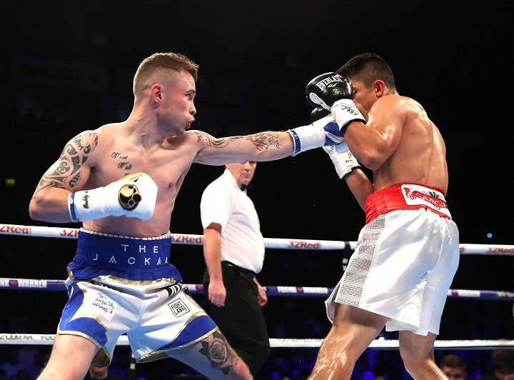 Horacio Garcia - Carl Frampton made a successful ring return at Belfast's SSE Odyssey Arena on Saturday night, defeating Mexico's Horacio Garcia on a unanimous points decision. (Photo: William Cherry/Presseye)