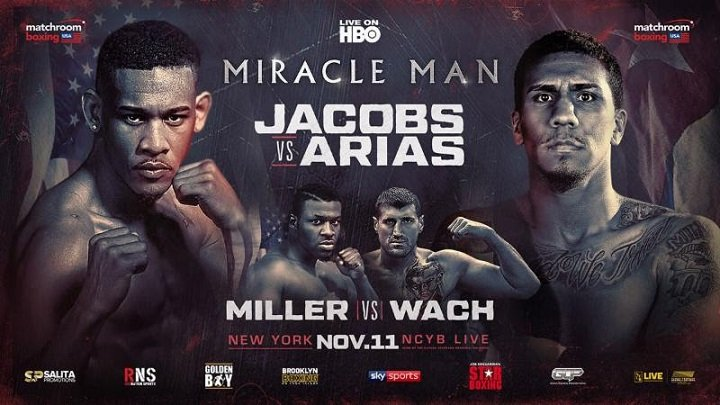 Luis Arias - HBO Sports visits Long Island's newly renovated Nassau Veterans Memorial Coliseum in Uniondale, NY, for the first time for an explosive tripleheader of action when WORLD CHAMPIONSHIP BOXING: DANIEL JACOBS VS. LUIS ARIAS AND JARRELL MILLER VS. MARIUSZ WACH AND CLETUS SELDIN VS. ROBERTO ORTIZ is seen SATURDAY, NOV. 11 at 10:00 p.m. (live ET/tape-delayed PT) exclusively on HBO. The HBO Sports team will call the action, which will be available in HDTV, closed-captioned for the hearing-impaired and presented in Spanish on HBO Latino.