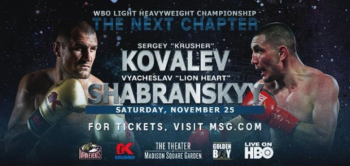 Kovalev-Shabranskyy Now for IBA Light Heavyweight World Title