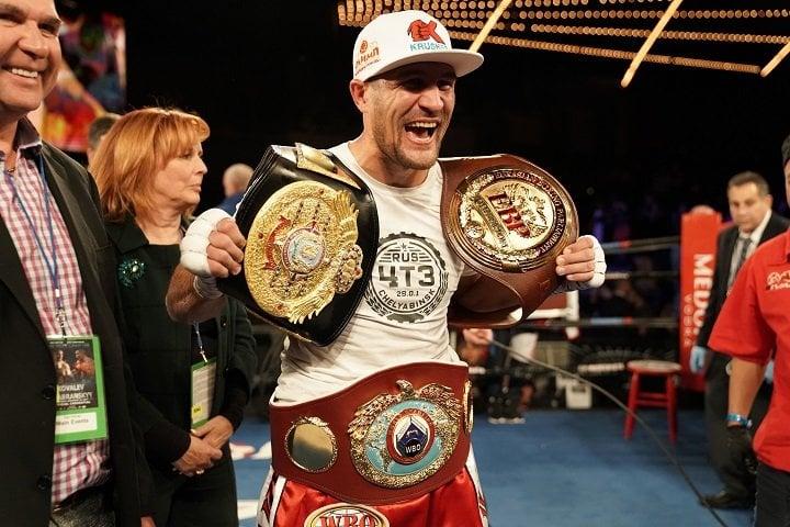 "Sergey ""Krusher"" Kovalev, Two-Time Light Heavyweight World Champion:"