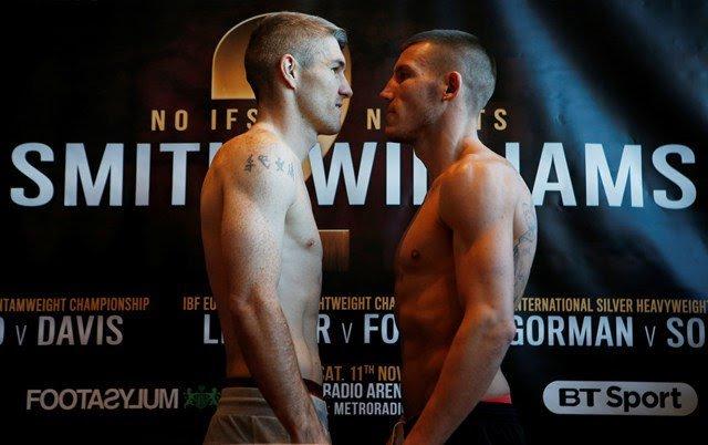 Liam Smith battles Liam Williams today