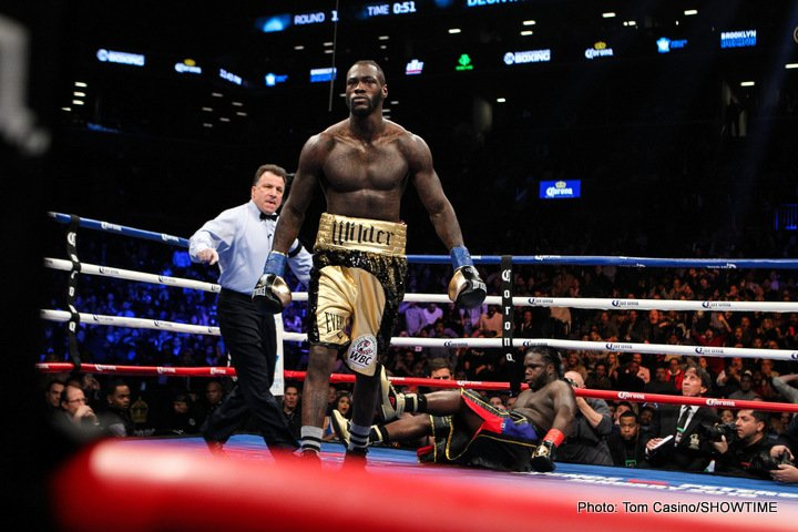 Boxing History - WBC heavyweight king Deontay Wilder scored that quite special thing this past Saturday night: a first-round knockout in a world heavyweight title fight. It's a sight to behold: one man, defending or challenging for the (one-time) biggest prize in sports and putting on an utterly destructive performance that sees him walk away the victor inside a mere three-minutes.