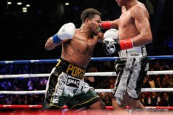 Adrian Granados, Shawn Porter - Former welterweight world champion Shawn Porter (28-2-1, 17 KOs) defeated Adrian Granados (18-6-2, 11 KOs) via unanimous decision (scored 117-111 by all three judges) in an exciting fight between two all-action competitors that served as the co-featured event of SHOWTIME CHAMPIONSHIP BOXING. The victory makes Porter the mandatory title challenger for unified welterweight champion Keith Thurman's WBC belt.