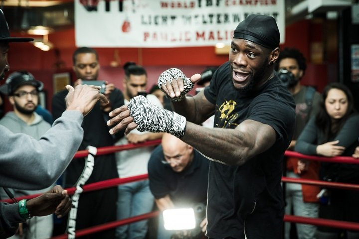 """Bermane Stiverne, Deontay Wilder, Dominic Breazeale, Eric Molina - WBC heavyweight ruler Deontay Wilder wants a big unification showdown with Anthony Joshua, the reigning WBA and IBF champ – as Wilder has made clear many times. Joshua, straight after Saturday's tougher than expected win over Carlos Takam, said the Wilder fight """"has to happen."""""""
