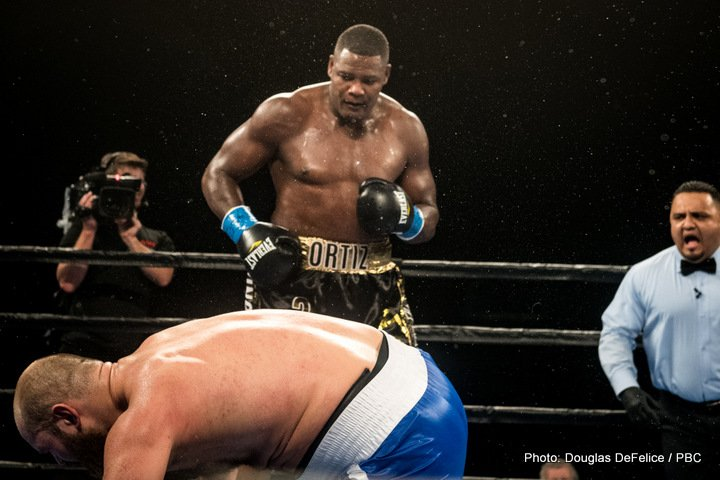 Deontay Wilder, Luis Ortiz - Heaven knows what the tag-line will be for this one! Reports, originating from RingTV.com, say a Deontay Wilde-Luis Ortiz rumble is close to happening – again - this time on March 3 in New York. Fans know all about the hows and whys that went into seeing that this match-up fell apart back in November – Ortiz testing positive for a banned substance, the WBC later accepting his plea of taking nothing but medication for high blood pressure – but it now looks to be back on.