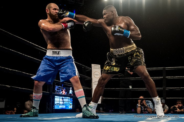 Daniel Martz, Luis Ortiz - Heavyweight Luis 'King Kong' Ortiz (28-0, 24 KOs) kept his unbeaten record perfect with a 2nd round knockout win over Daniel Martz (16-6-1, 13 KOs) on Friday night in front of a good size crowd at the Hialeah Park in Miami, Florida.