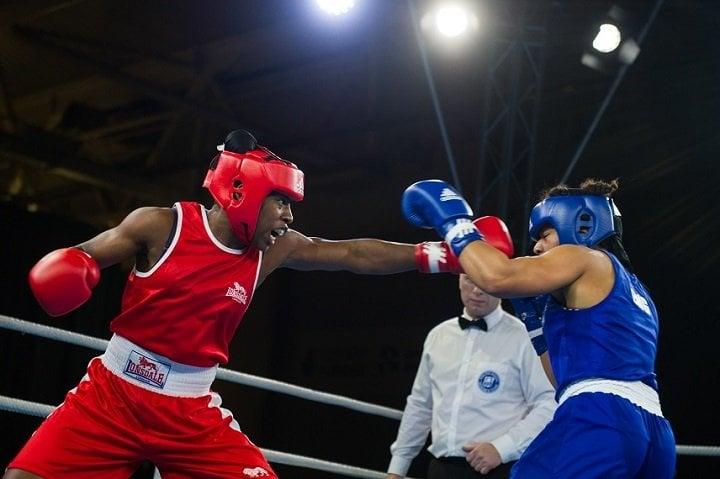 Natasha Gale Roseanna Cox British Boxing Press Room