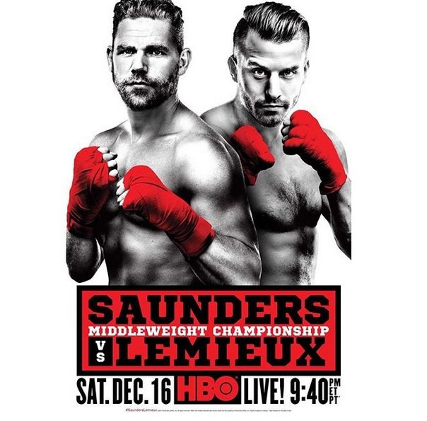David Lemieux - OSCAR DE LA HOYA: Thank you to the media for joining us today in this International Media Conference Call for Saunders versus Lemieux. We are kicking off fight week with this call and have a week of events leading up to Saturday's events, which will surely be a showdown between two heavy hitters this Saturday, December 16th, at the brand new Place Bell in Laval, Quebec, Canada. WBO Middleweight World Champion Billy Joe Saunders will battle the heavy-handed David Lemieux for Saunders title, which is a WBO title. This event is presented by Golden Boy Promotions and Eye of the Tiger Management in association with my partner Frank Warren.