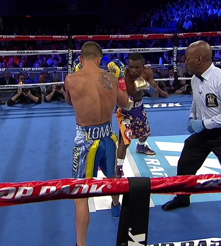 Guillermo Rigondeaux, Vasyl Lomachenko - WBO super featherweight champion Vasyl Lomachenko (10-1, 8 KOs) defeated previously unbeaten Guillermo Rigondeaux (17-1, 11 KOs) by a 6th round injury stoppage on Saturday night in their long awaited match on ESPN at Madison Square Garden in New York.