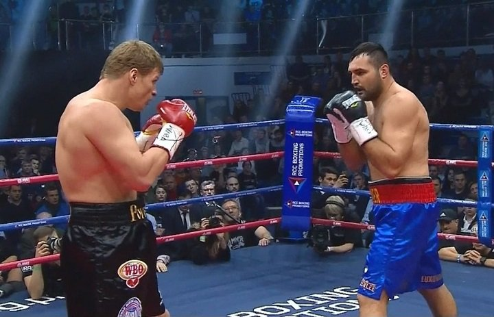 Christian Hammer - Former WBA heavyweight champion Alexander Povetkin (33-1, 23 KOs) had an easy time defeating contender Christian Hammer (22-5, 12 KOs) by a 12 round unanimous decision on Friday night in a WBA heavyweight title eliminator at the DIVS, Ekaterinburg, Russia.