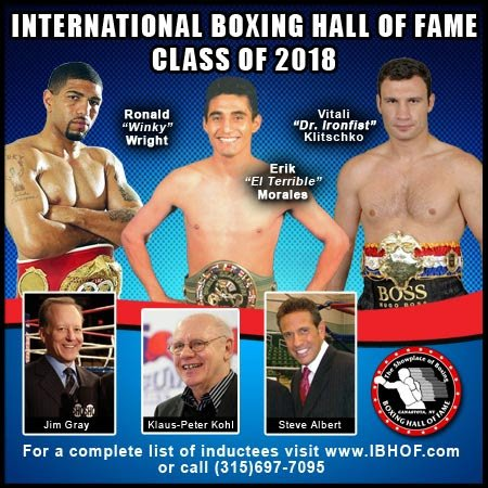 Vitali Klitschko, Erik Morales & Winky Wright   Elected To Int'l Boxing Hall Of Fame