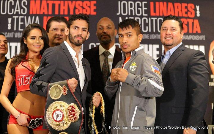 Jorge Linares Lucas Matthysse Mercito Gesta Tewa Kiram Boxing News