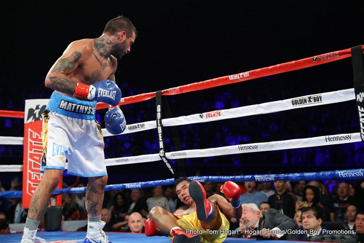 Matthysse knocks Kiram out cold in 8th round!
