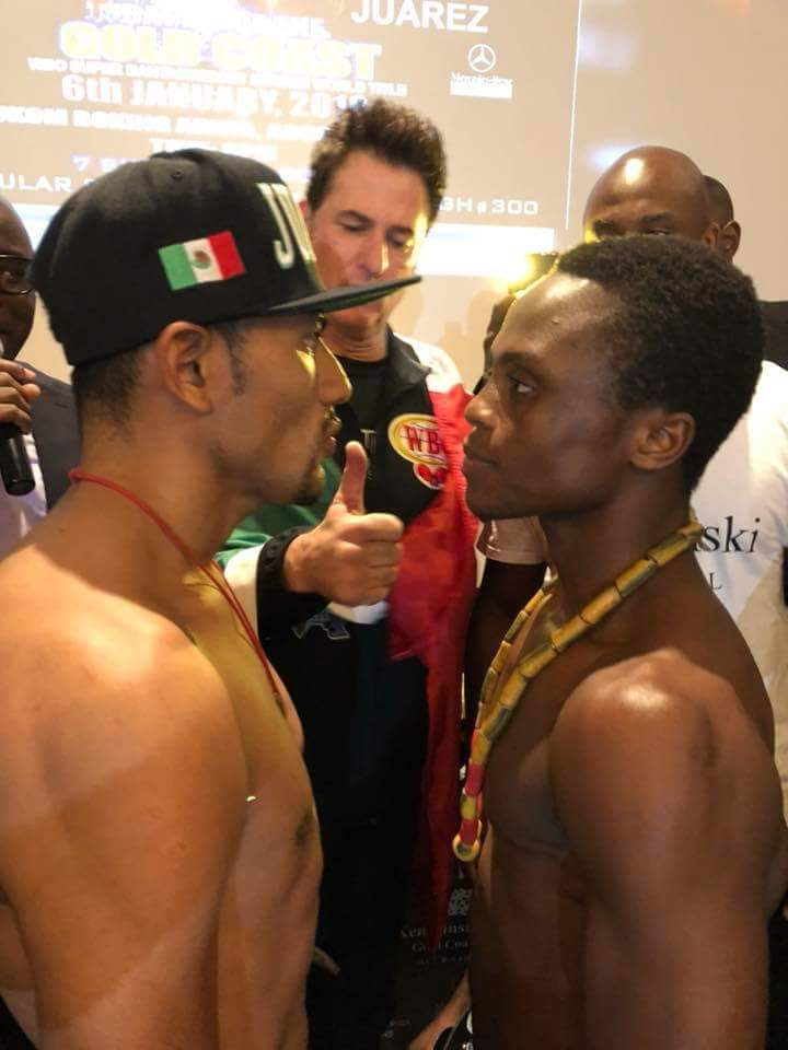 Cesar Juarez - The countdown is almost over and tomorrow night at the Bukom Boxing Arena in Accra, Ghana's Isaac 'Royal Storm' Dogboe and Cesar Juarez of Mexico will slug it out for the WBO interim super bantamweight world title before an expected huge crowd.