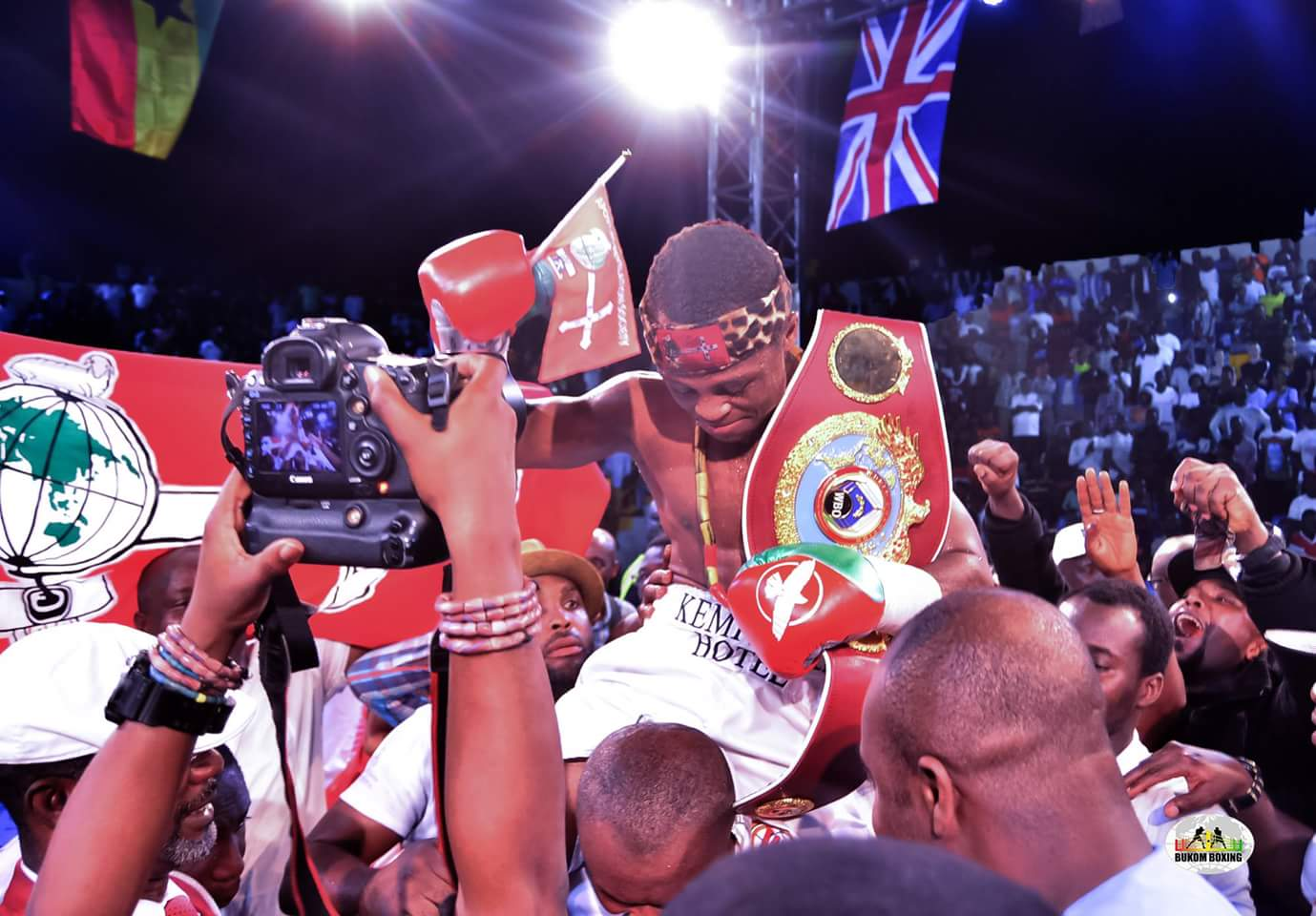 """Cesar Juarez - Last night in front of his adoring fans in Accra, Ghana - in the first """"world"""" title fight of 2018 - unbeaten warrior Isaac Dogboe won a thrilling action fight with Mexico's Cesar Juarez. Dogboe, 18-0(12) weathered a hellish early storm from the 20-6(15) Juarez to come on and get the stoppage in round-five."""