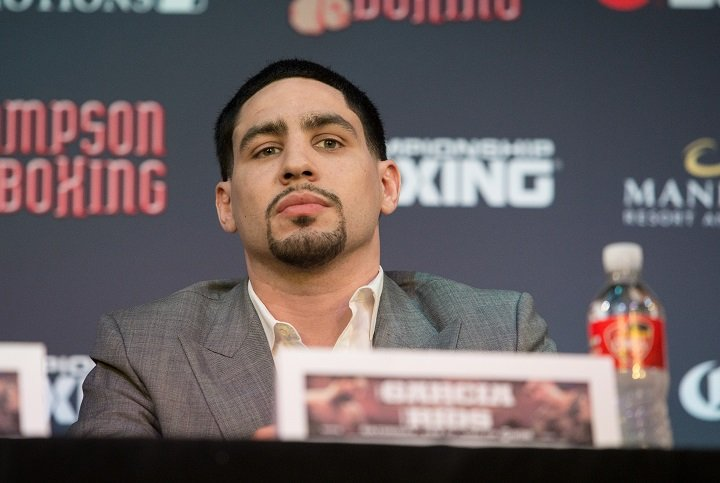 """Brandon Rios - Two-division world champion Danny """"Swift"""" Garcia and former world champion Brandon """"Bam Bam"""" Rios went face-to-face for the first time Tuesday at a press conference in Los Angeles to announce their main event showdown taking place Saturday, Feb. 17 live on SHOWTIME from Mandalay Bay Events Center in Las Vegas and presented by Premier Boxing Champions."""